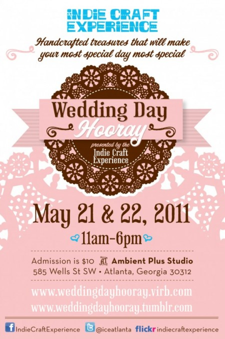 Wedding Day Hooray - Indie Craft Experience Post card
