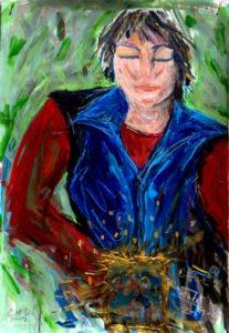 Painting of Judi Knight by Callahan McDonough